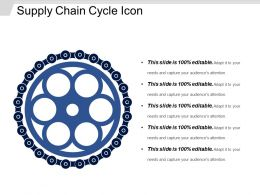 Supply Chain Cycle Icon Powerpoint Slide Background Designs