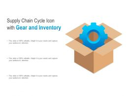 Supply Chain Cycle Icon With Gear And Inventory