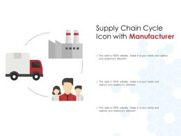 Supply Chain Cycle Icon With Manufacturer
