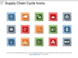 Supply Chain Cycle Icons Powerpoint Slide Design Templates