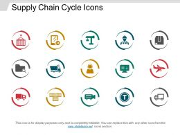 Supply Chain Cycle Icons Powerpoint Slide Designs
