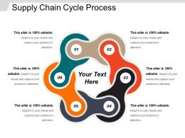 Supply Chain Cycle Process Powerpoint Slides