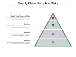 Supply Chain Disruption Risks Ppt Powerpoint Presentation Summary Graphics Cpb