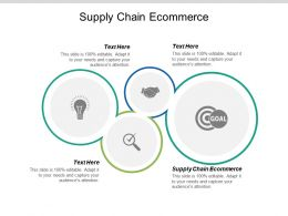 Supply Chain Ecommerce Ppt Powerpoint Presentation Ideas Visuals Cpb
