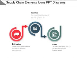 Supply Chain Elements Icons Ppt Diagrams