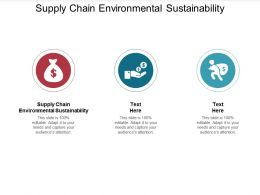 Supply Chain Environmental Sustainability Ppt Powerpoint Presentation Infographics Shapes Cpb