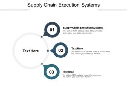 Supply Chain Execution Systems Ppt Powerpoint Presentation Model Topics Cpb