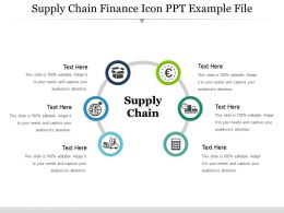 Supply Chain Finance Icon Ppt Example File