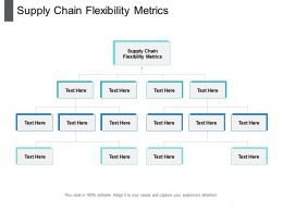 Supply Chain Flexibility Metrics Ppt Powerpoint Presentation Outline Format Ideas Cpb
