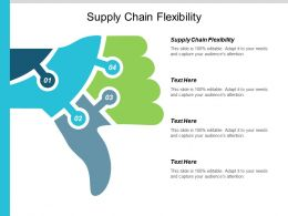 Supply Chain Flexibility Ppt Powerpoint Presentation Visual Aids Model Cpb