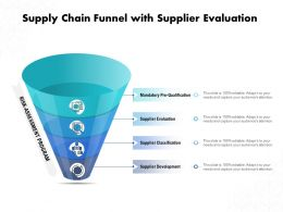 Supply Chain Funnel With Supplier Evaluation