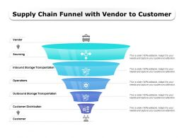 Supply Chain Funnel With Vendor To Customer