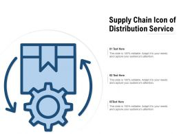 Supply Chain Icon Of Distribution Service
