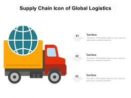 Supply Chain Icon Of Global Logistics