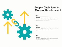 Supply Chain Icon Of Material Development
