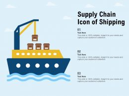Supply Chain Icon Of Shipping