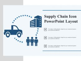 Supply Chain Icon Powerpoint Layout