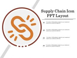 Supply Chain Icon Ppt Layout