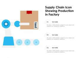 Supply Chain Icon Showing Production In Factory