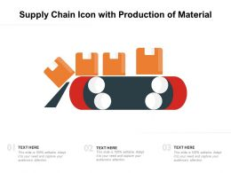 Supply Chain Icon With Production Of Material