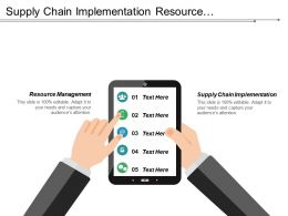 Supply Chain Implementation Resource Management Business Process Utility Cpb