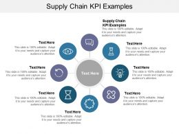 Supply Chain KPI Examples Ppt Powerpoint Presentation Pictures Topics Cpb
