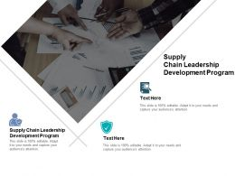 Supply Chain Leadership Development Program Ppt Powerpoint Presentation File Cpb
