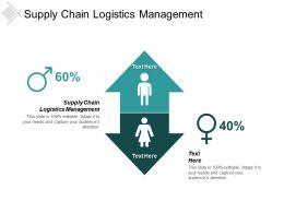 Supply Chain Logistics Management Ppt Powerpoint Presentation File Portrait Cpb