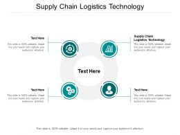 Supply Chain Logistics Technology Ppt Powerpoint Presentation Portfolio Pictures Cpb