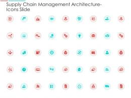 Supply Chain Management Architecture Icons Slide Ppt Icons