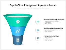 Supply Chain Management Aspects In Funnel