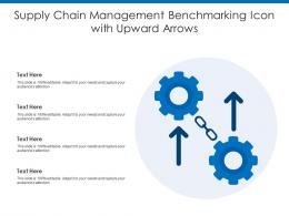Supply Chain Management Benchmarking Icon With Upward Arrows