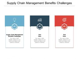 Supply Chain Management Benefits Challenges Ppt Powerpoint Presentation Example Cpb