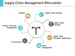 Supply Chain Management Bifurcation Ppt Slides Backgrounds