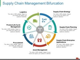 Supply Chain Management Bifurcation Ppt Visual Aids Pictures