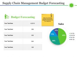 Supply Chain Management Budget Forecasting Ppt Example Professional