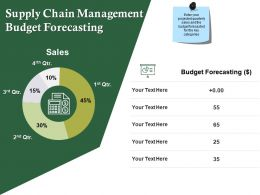 Supply Chain Management Budget Forecasting Ppt Professional Samples