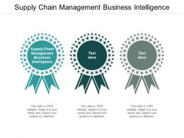 Supply Chain Management Business Intelligence Ppt Powerpoint Presentation Pictures Templates Cpb