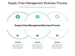 Supply Chain Management Business Process Ppt Powerpoint Presentation Portfolio Cpb