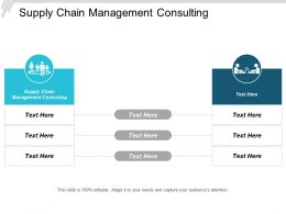Supply Chain Management Consulting Ppt Powerpoint Presentation Pictures Graphics Design Cpb