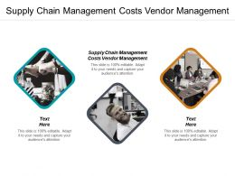 Supply Chain Management Costs Vendor Management Ppt Powerpoint Presentation File Brochure Cpb