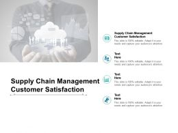 Supply Chain Management Customer Satisfaction Ppt Powerpoint Presentation Visual Aids Cpb