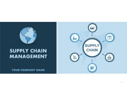 Supply Chain Management Dashboard PowerPoint Presentation With Slides