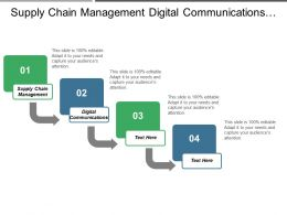 Supply Chain Management Digital Communications Marketing Analytics Business Development Cpb