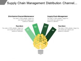 Supply Chain Management Distribution Channel Maintenance Investment Financing Consulting