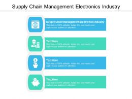 Supply Chain Management Electronics Industry Ppt Powerpoint Presentation Styles Graphic Images Cpb