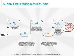 Supply Chain Management Goals Arrows Growth Ppt Powerpoint Presentation Good