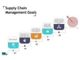 Supply Chain Management Goals Ppt Slides Diagrams