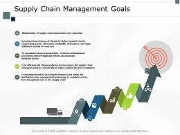 Supply Chain Management Goals Target Ppt Powerpoint Presentation Slides Shapes