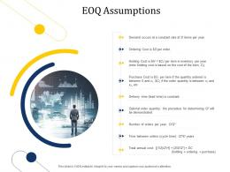 Supply Chain Management Growth EOQ Assumptions Ppt Template Microsoft